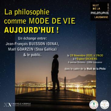 [Vidéoconférence] Nuit de la philosophie – 19 novembre 2020